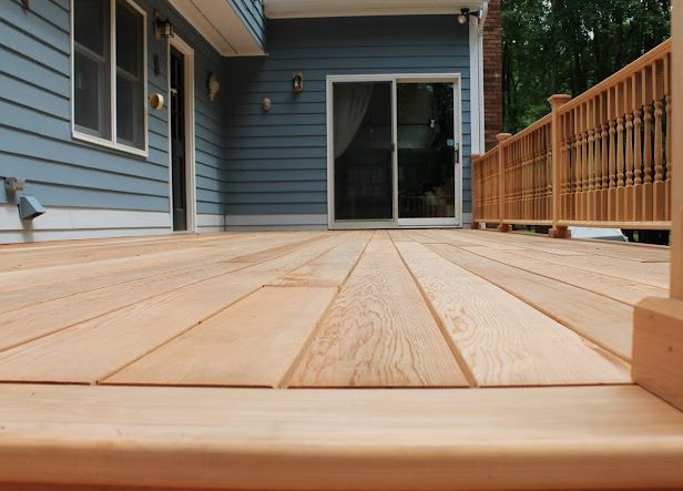 Building a Natural Wood Deck