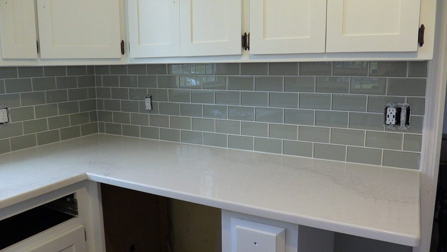 New Glass Subway Tile Installation