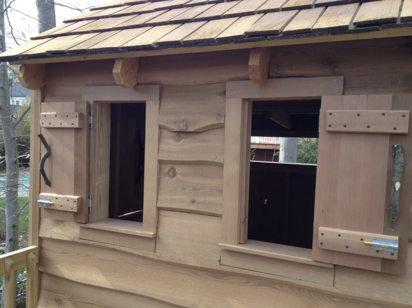 Lookout Windows with Working Shutters