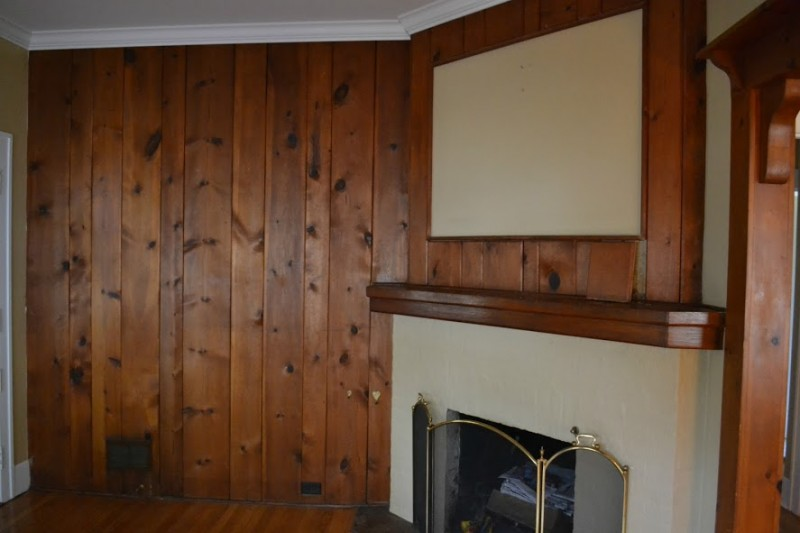Paneled Fireplace Surround Before