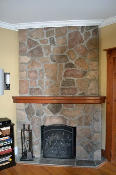 New Field Stone Fireplace, Chatham New Jersey