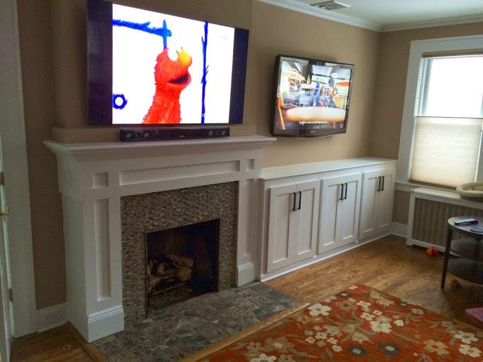 Fireplace Mantel and Cabinetry