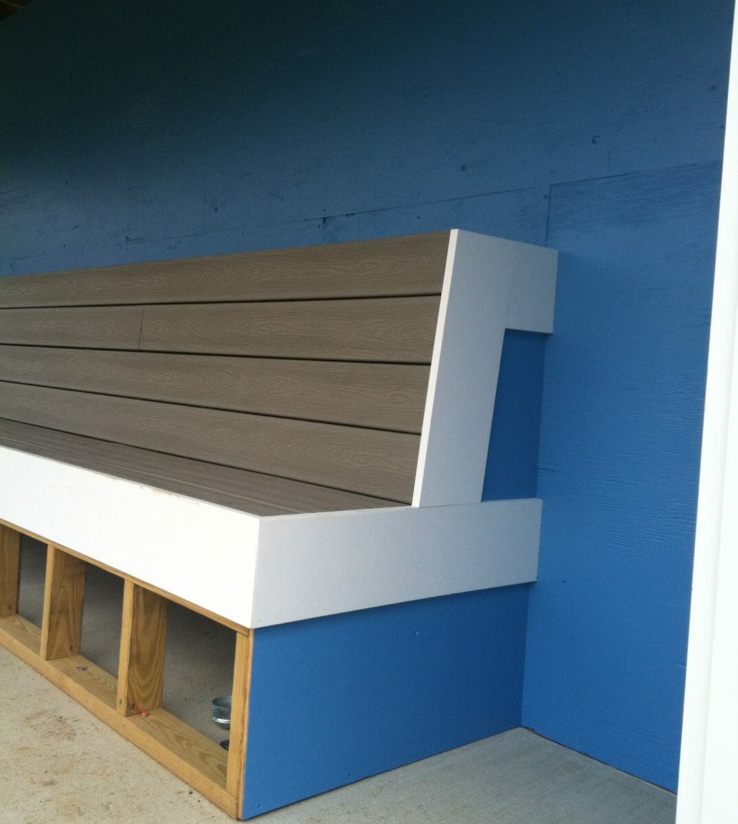 Painted Bench in Dugout