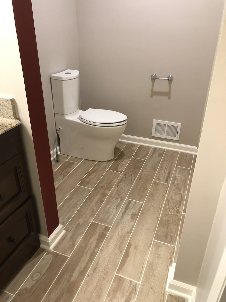 Tile Floor Replacement in Bathroom