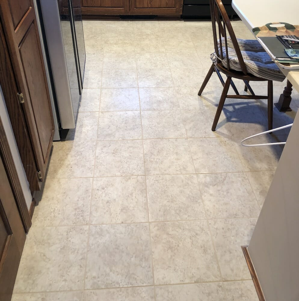Kitchen Tile After Replacement