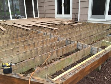 During Deck Refacing