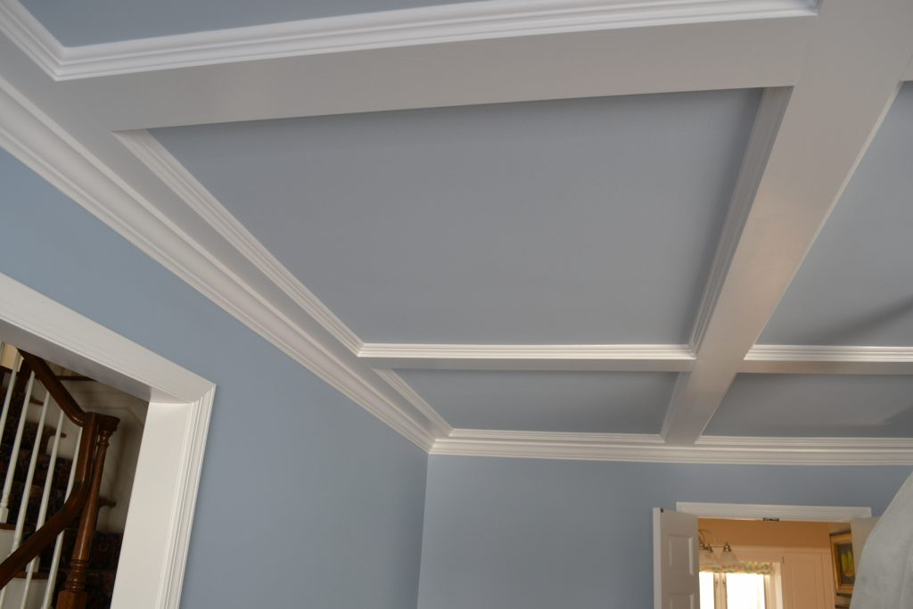 Coffered Ceiling Installation Painting Mendham Nj Monk 39 S