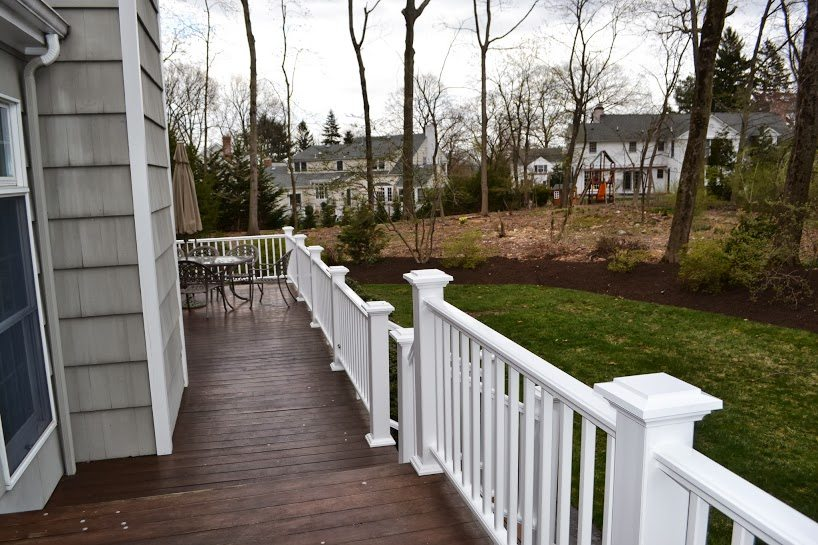 replacing wood deck railing