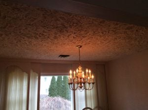Before Textured Ceiling Removal by Monk's Home Improvements