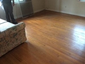 Before Dustless Floor Refinishing by Monk's