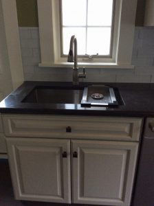 New Countertops and New Faucet Installation by Monk's