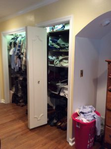 Before Closet Remodel Morristown NJ