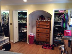 Front View of 4 Closet Sections