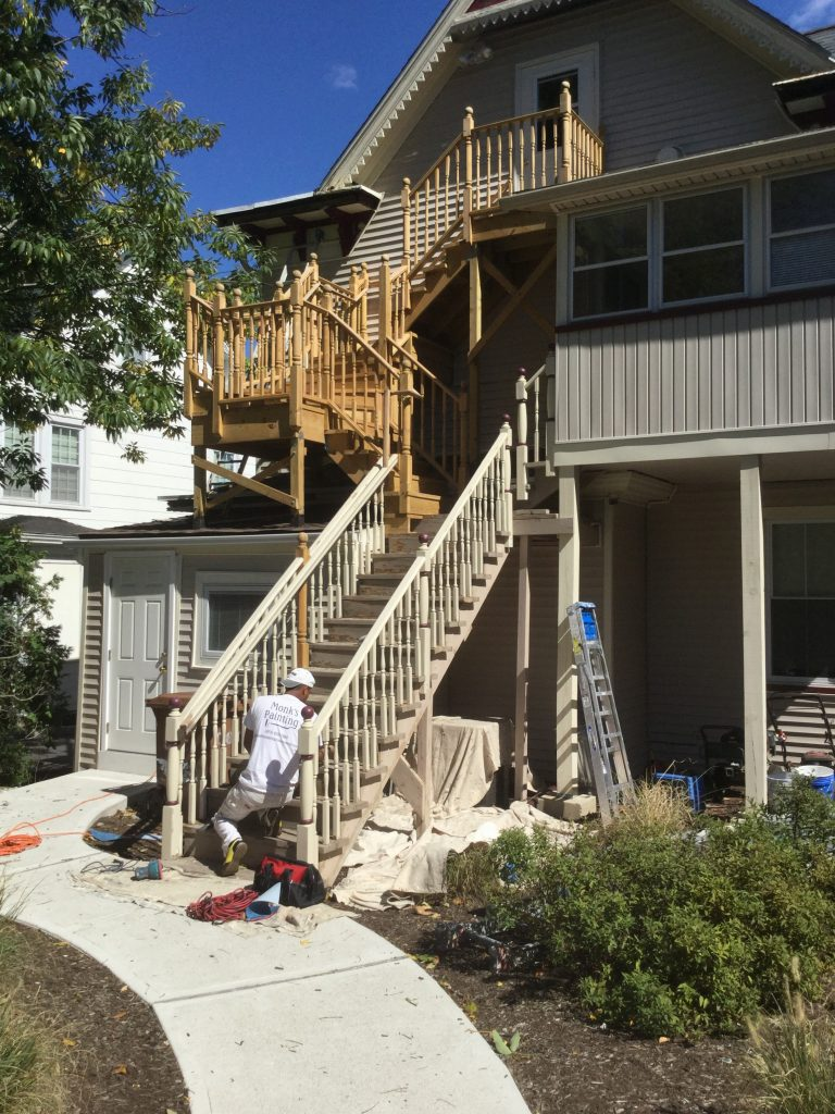 Deck Staining by Monk's Home Improvements