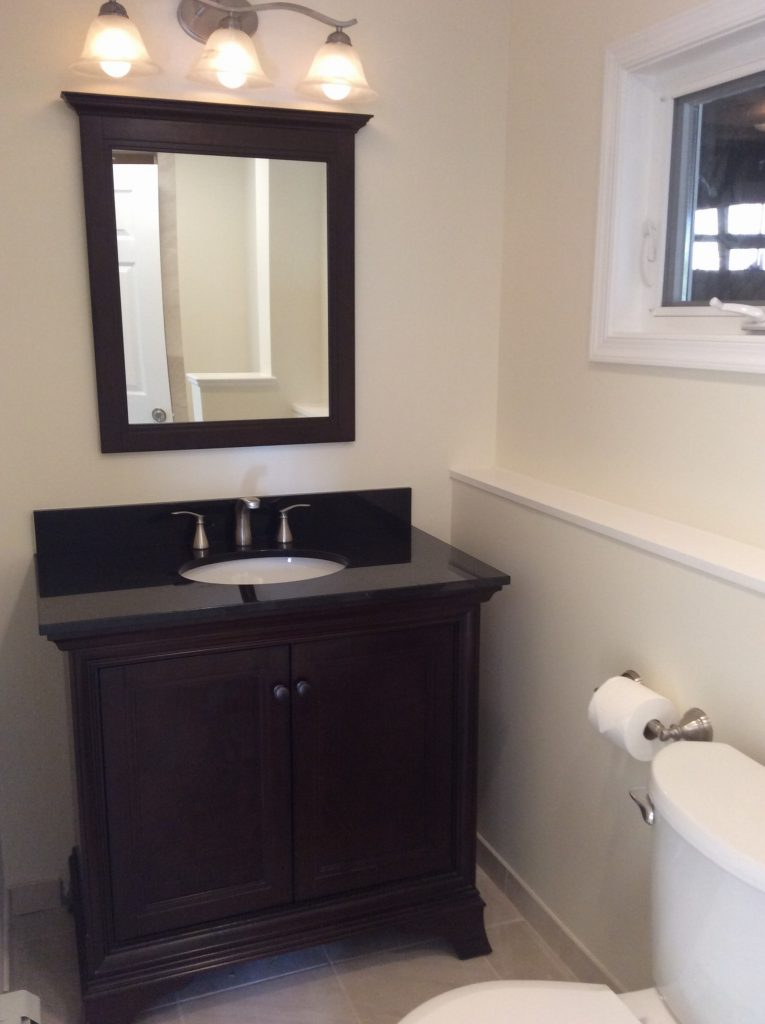 After Basement Bathroom by Monk's Home Improvements
