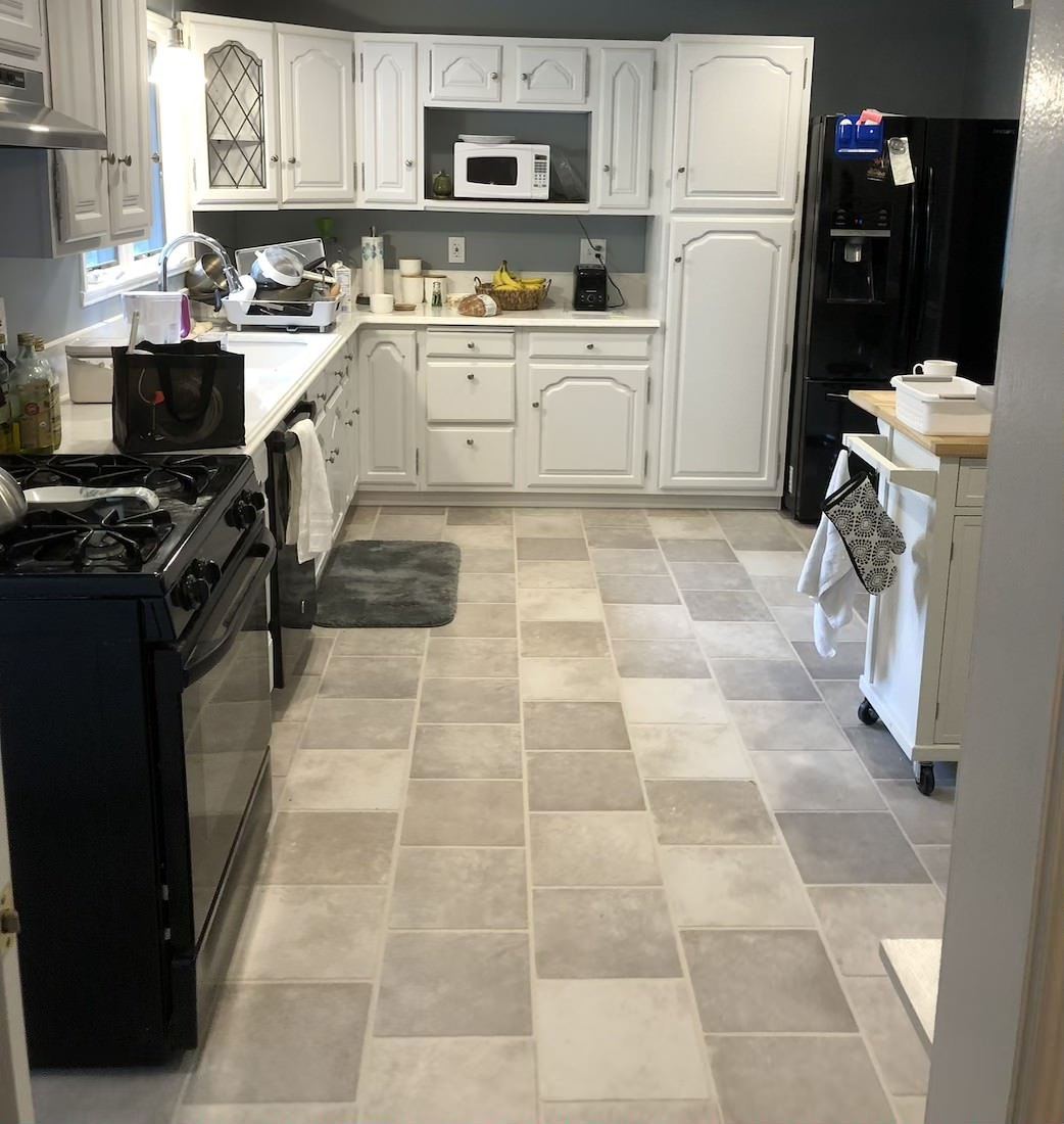 Kitchen Floor Tile Installation