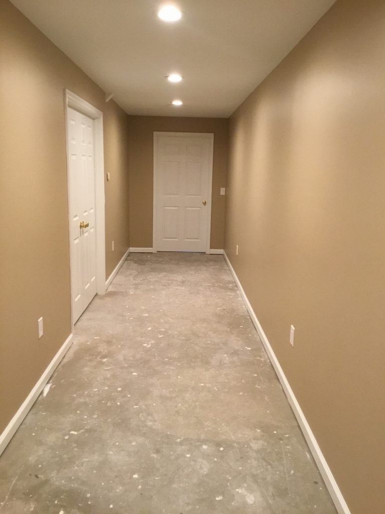 Basement hallway finishing in chester nj monk 39 s home for House finishing