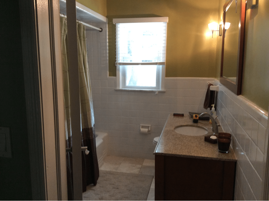 Before Bathroom Remodel by Monk's
