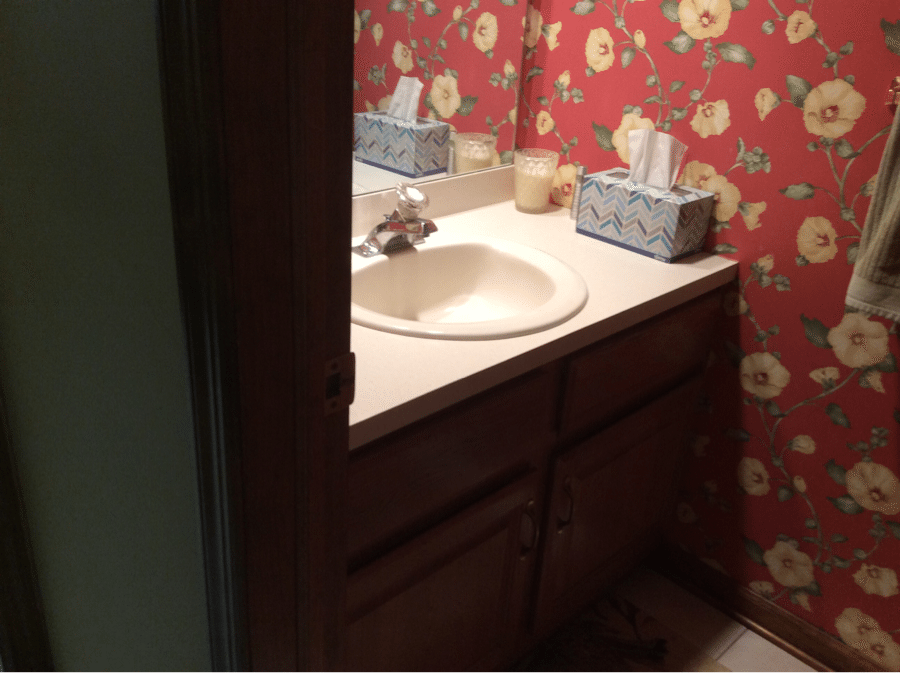 Before Powder Room Renovation by Monk's