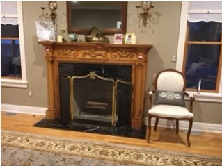 Before Fireplace Mantel Remodel