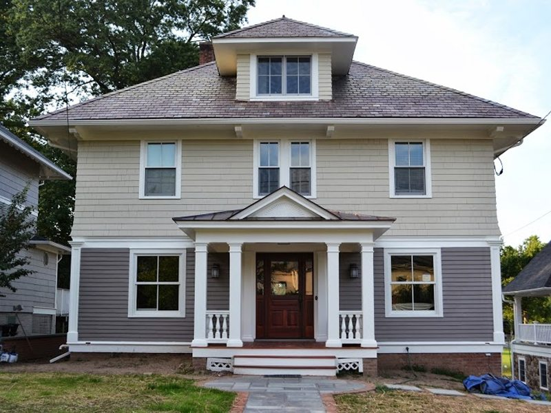 exterior painting and porch renovation madison nj monk 39 s home. Black Bedroom Furniture Sets. Home Design Ideas