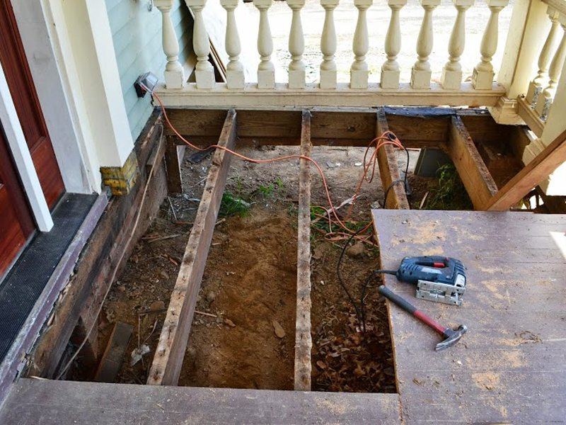 Exterior Painting and Porch Renovation Madison, NJ - Monk