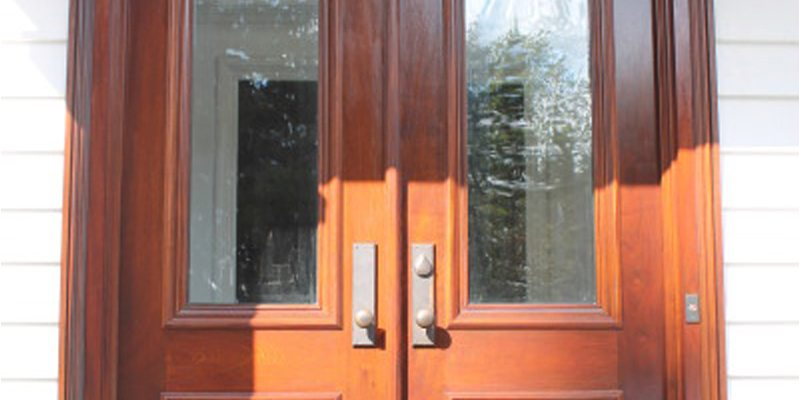 Mahogany Front Door Refinishing