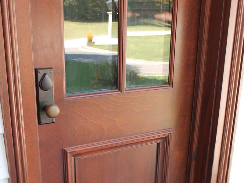 Before   Mahogany Front Door Refinishing