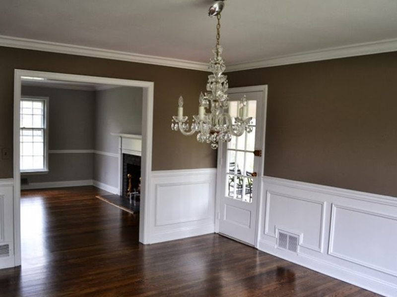 Picture Frame Molding Interior Painting And Hardwood Floors In