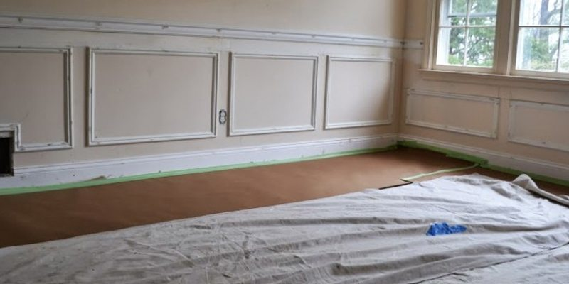 Before   Picture Frame Molding, Interior Painting And Hardwood Floors
