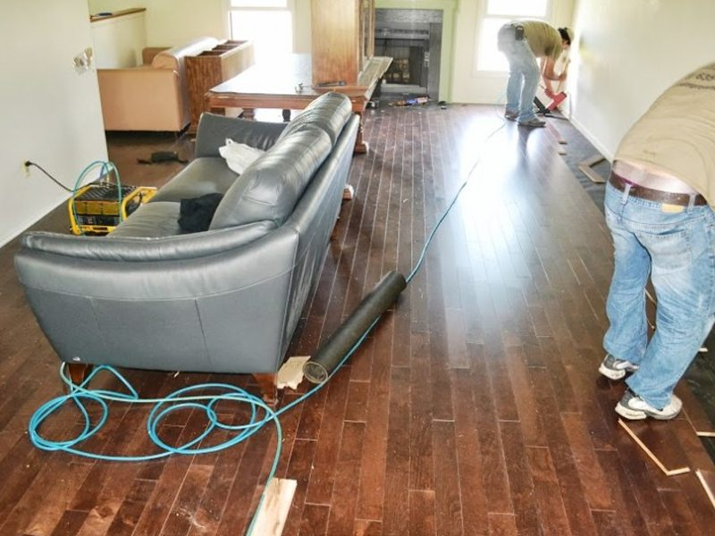 Prefinished Hardwood Floor Installation And Interior