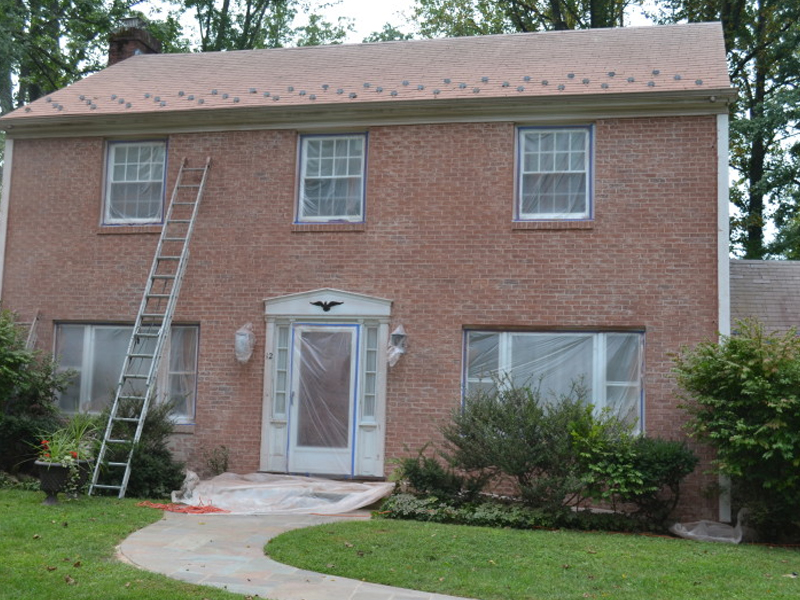 Sanding Painted Brick Exterior In Morristown Nj Monk 39 S Home Improvements
