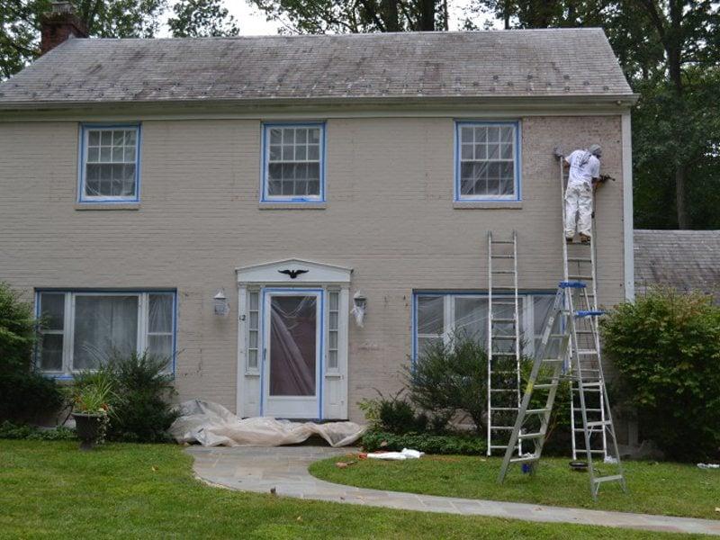 Sanding Painted Brick Exterior Morristown Monk 39 S Home Improvements