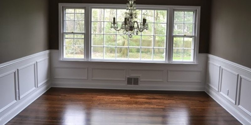 after picture frame molding interior painting and hardwood floors