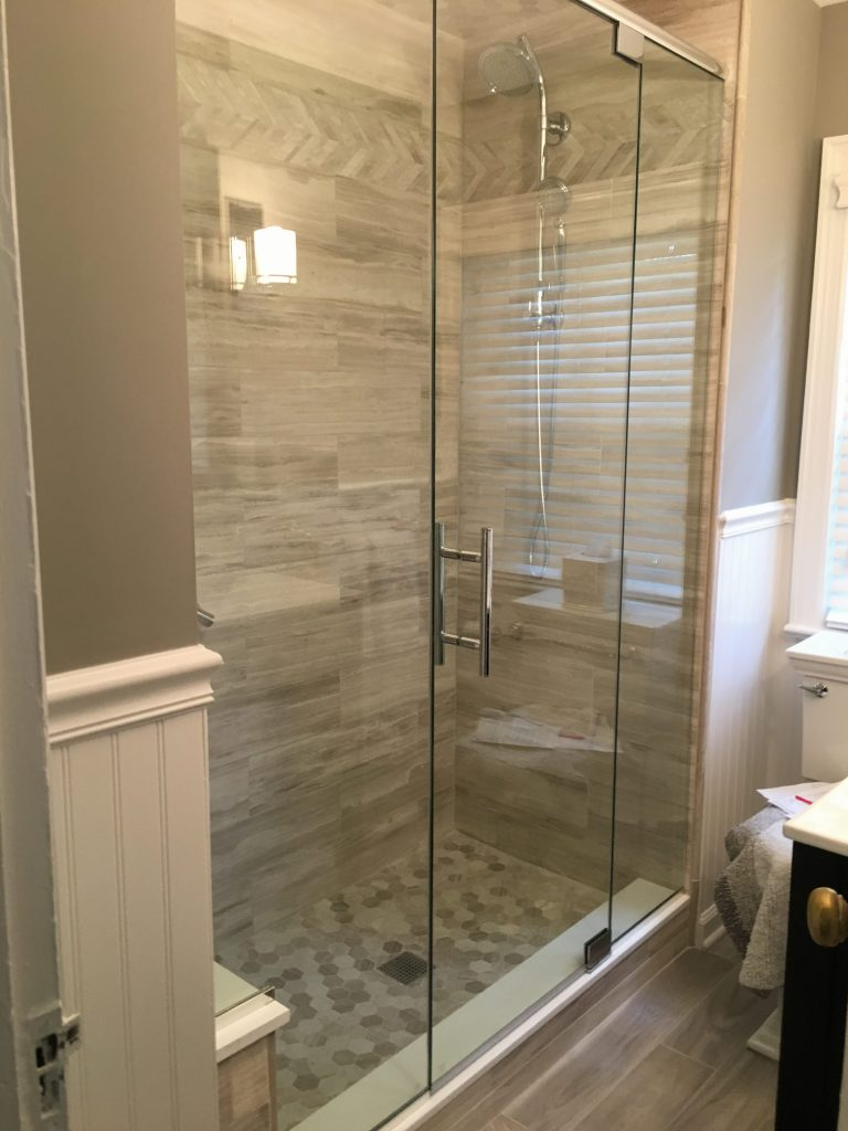 Tub to shower conversion bathroom remodel in chatham nj - Bathroom remodel tub to shower conversion ...
