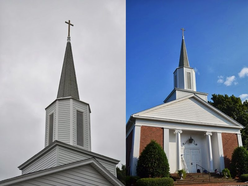 Calvary Presbyterian Church Steeple Renovation In Florham