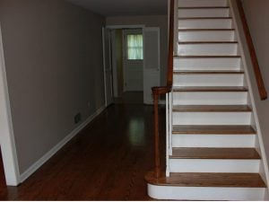 Refinished Hardwood and Interior Painting