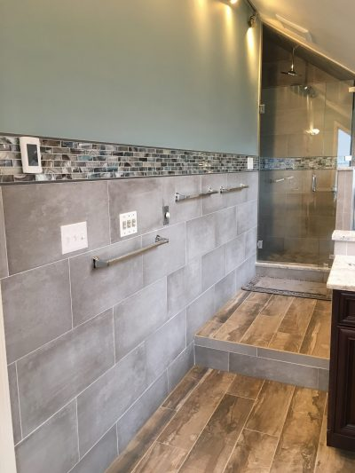 After Shower Remodel Featuring all New Tile