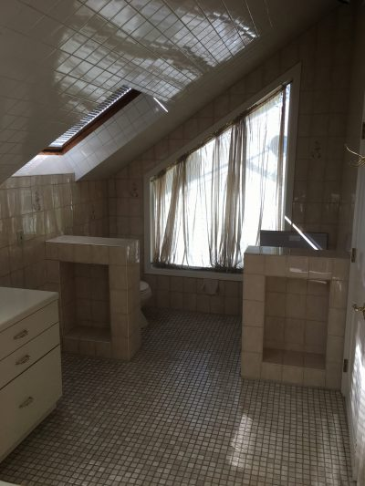 Remodeling A Bathroom With Pitched Roof Monk S Home