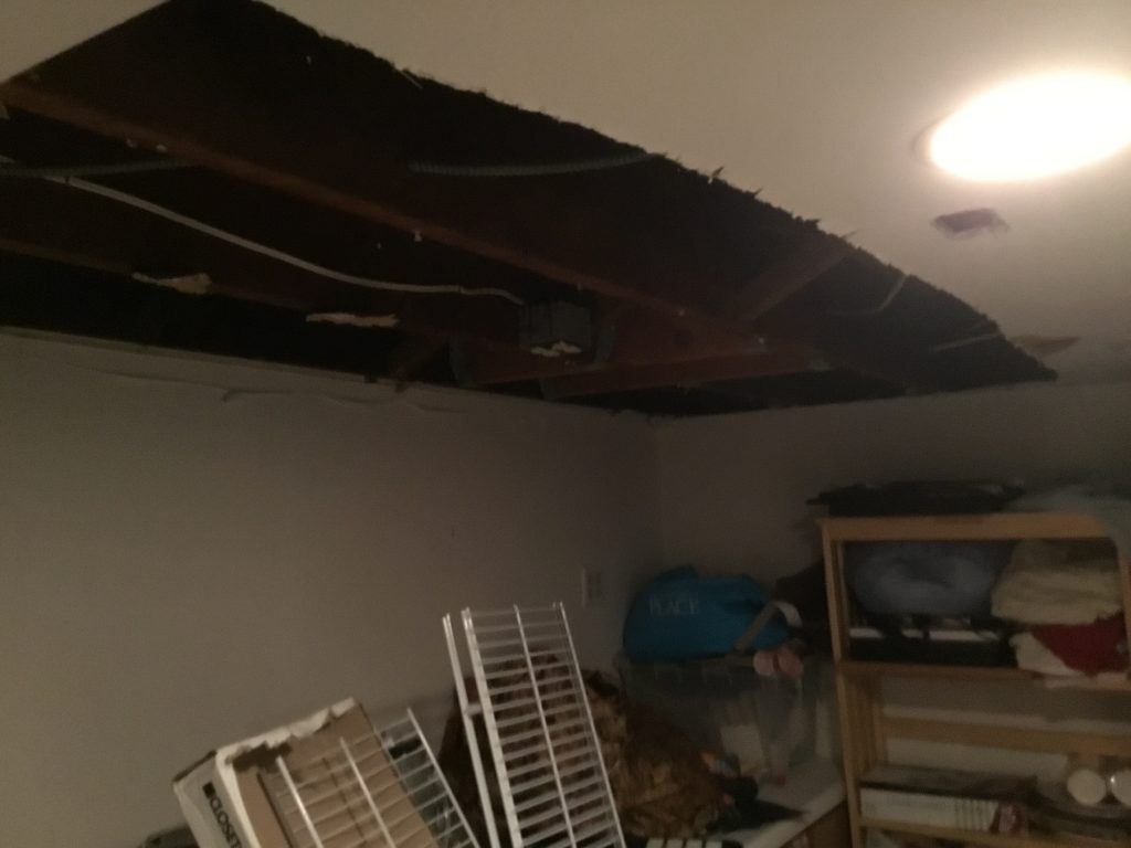 Ceiling that Needed to be Repaired