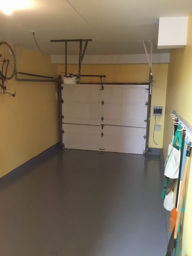 Completed Garage Floor Epoxy