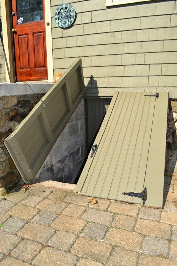 new basement access door