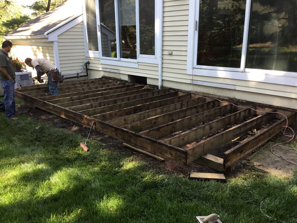 Remove all wood deck planks