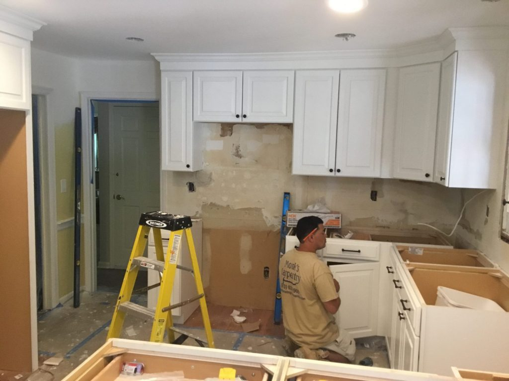 During Kitchen Renovation by Monk's
