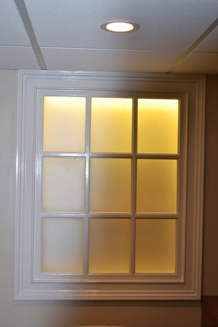 Close up of Faux Window