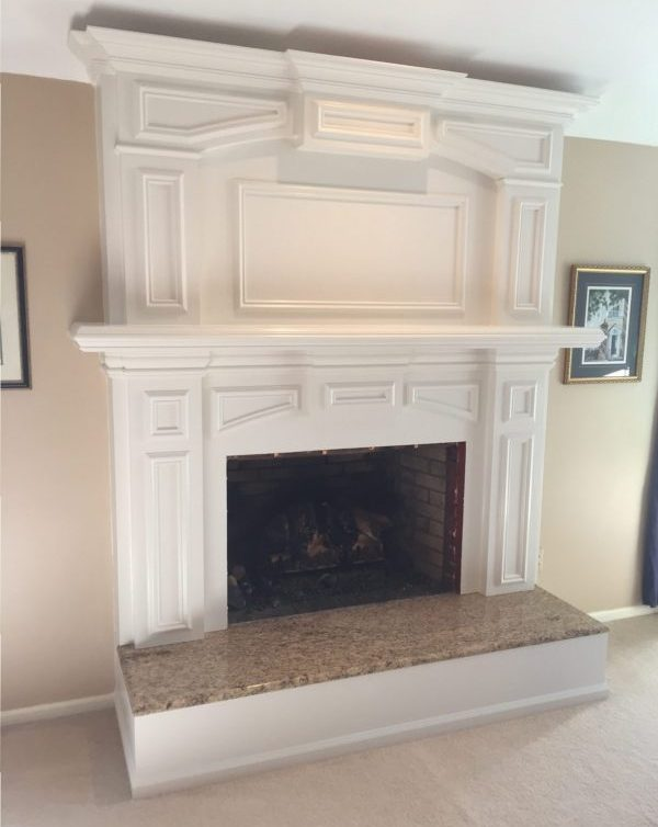 Fireplace Mantel Surround With Granite, Can You Tile Over Granite Fireplace Surround