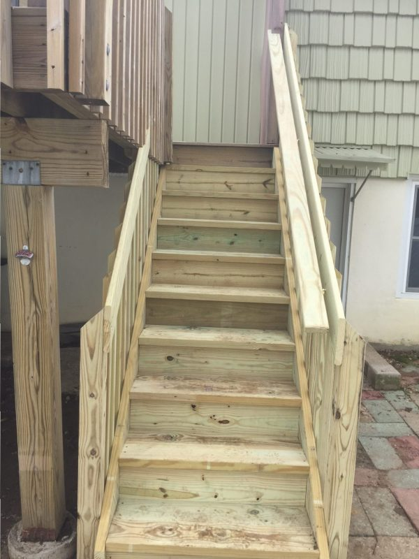 Deck Stair Stabilization and Replacement