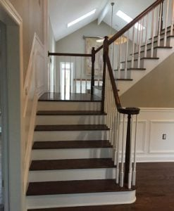 After Refinishing Stairs and Railings