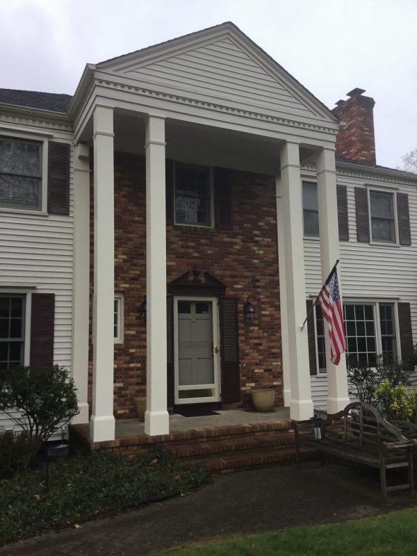 Column Wrap Using Azek Composite Monk S Home Improvements