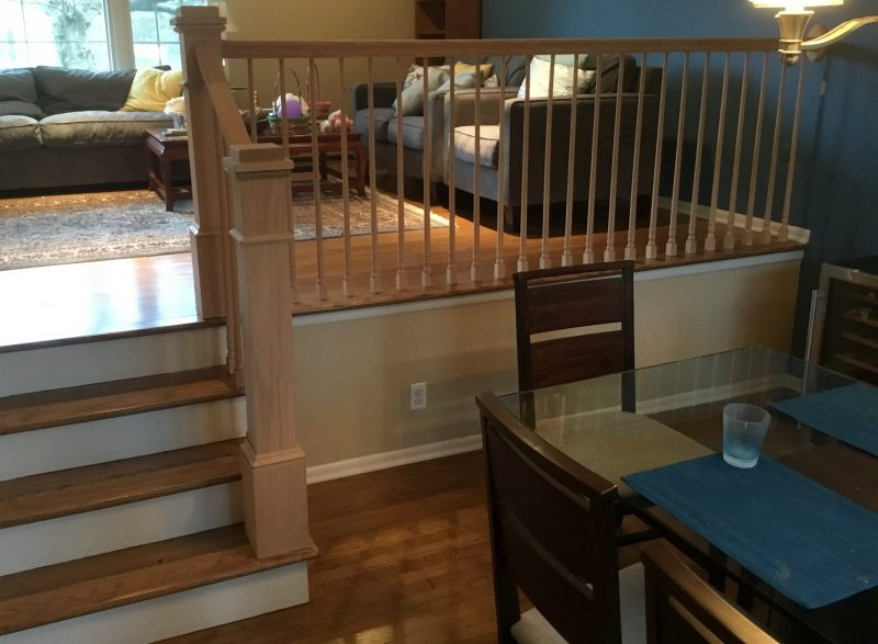 New Railings Before Being Stained from Dining Room